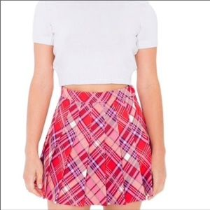 American Apparel Julie Plaid Skirt